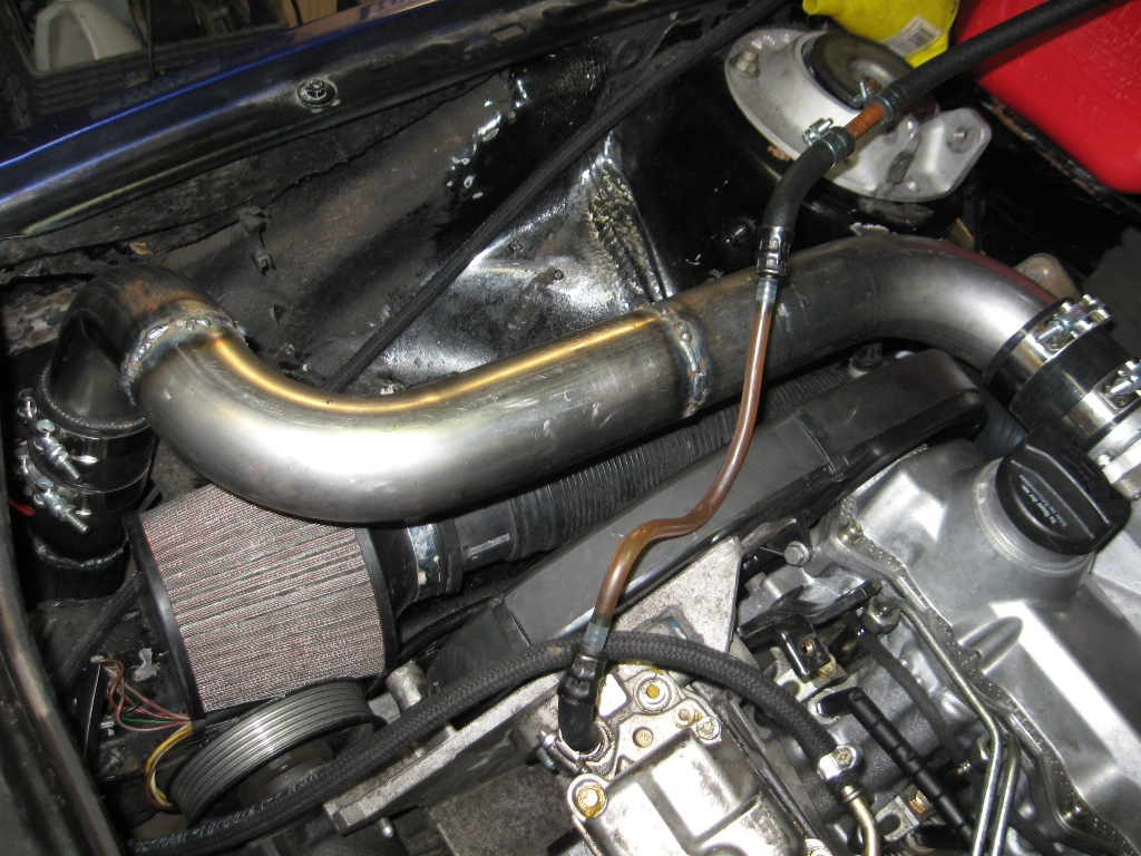the MAP sensor in the piping but there is ample room along that side